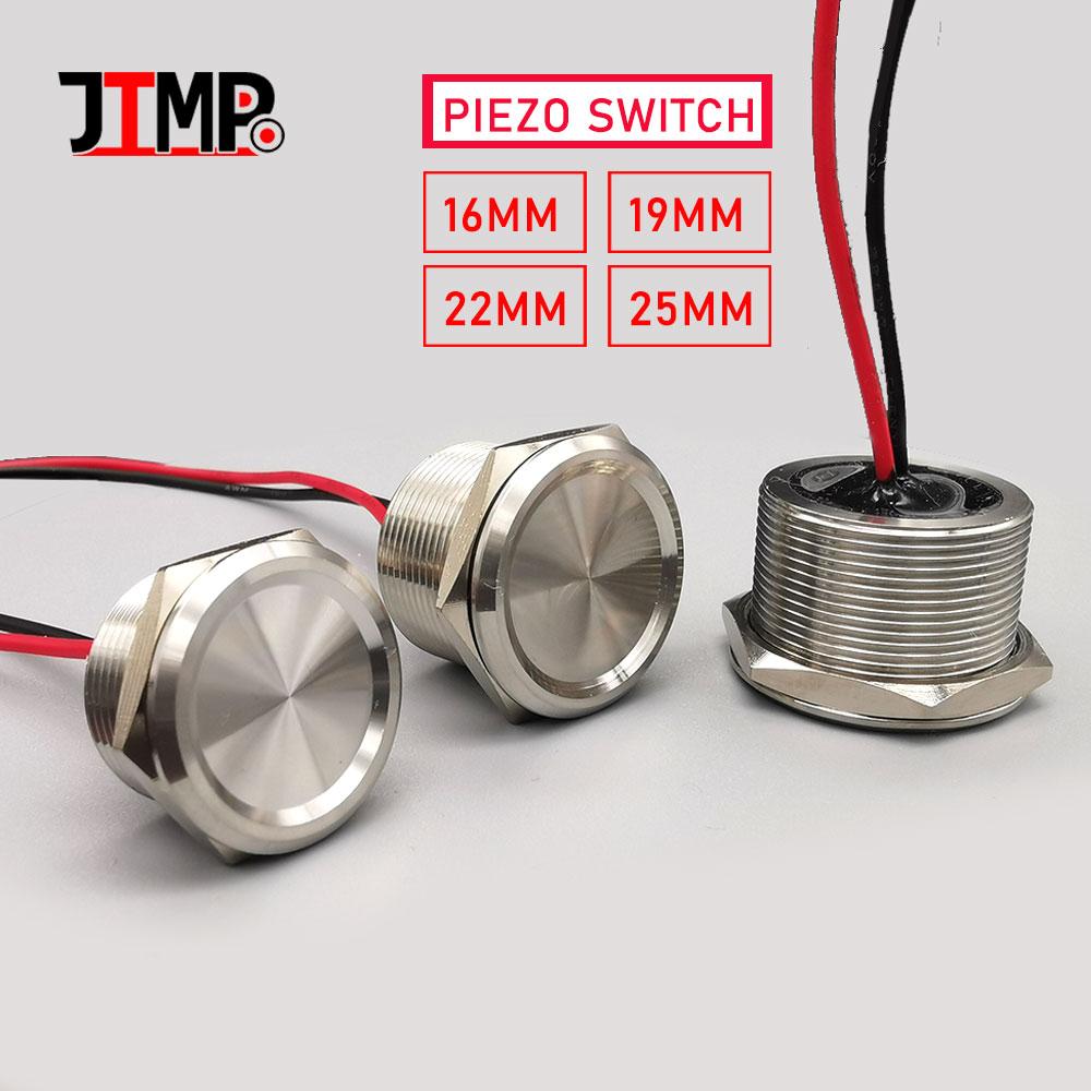 Водонепроницаемые пьезосенсорные переключатели из нержавеющей стали 16 мм 19 мм 22 мм 25 мм, обычная открытая емкостная мгновенная кнопка