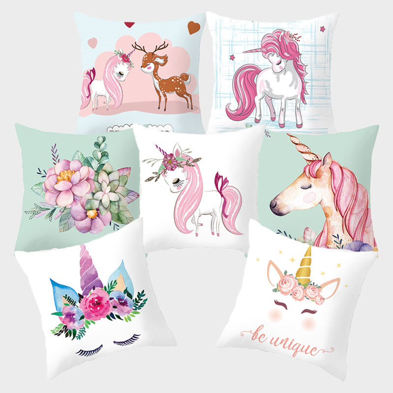 Flamingo Pillowcover Cushion Covers Pink Pillowcase Decorative Cushions For Sofa Polyester Home Decoration Bed 45*45 10049