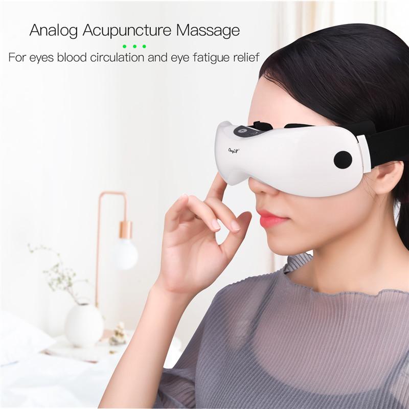 Electric Eye Massager Vibration Eye Massage Tool  Eyes Fatigue Relief Wireless Relaxation Warm Hot Compress USB Rechargeable 45