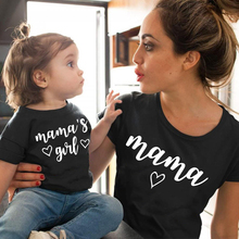 Matching Family T-Shirt Outfits Look GIRL Daughter Mommy MAMA Me Fashion And Cotton Love-Print