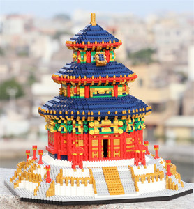 World Famous China Historical Cultural Architecture DIY Building Blocks Toys Beijing Peking Temple of Heaven Model Bricks Toys(China)