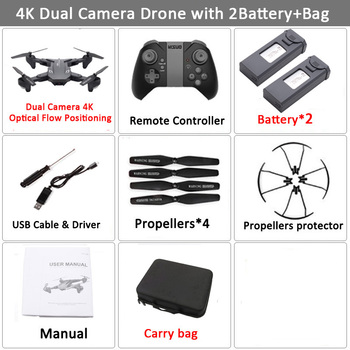 Visuo XS816 RC Drone with 50 Times Zoom WiFi FPV 4K Dual Camera Optical Flow Quadcopter Foldable Selfie Dron VS SG106 M70 23