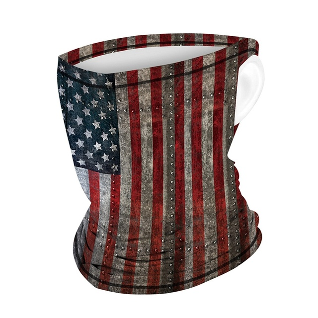 Multifunction Face Coverings American flag outdoor sports breathable mask cool and comfortable scarf magic turban Unisex 1