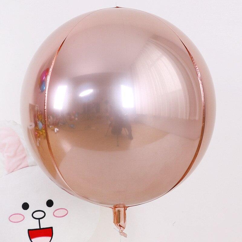 5 шт./лот 10 18 22 дюйма 4D круглые шарики из алюминиевой фольги металлические воздушные шары Свадебные украшения для дня рождения гелиевые шары-4