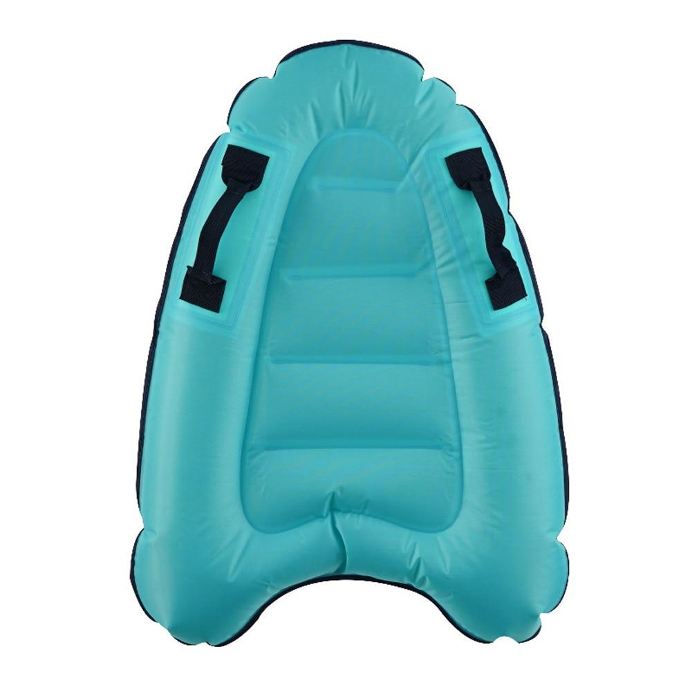 Hf00829ff3d1a44ddbdd47a99f15870a7D - Outdoor Inflatable Surfboard Solid Color Buoy Kickboard Kids Safe Sea Surfing Board Swim Lightly Kick Board Surfing Bodyboard
