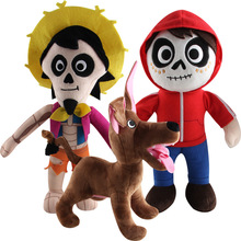 3pcs/lot 30cm Movie COCO Pixar Character Miguel Hector Dante Dog Plush Toys Doll Soft Stuffed for Children Kids Xmas Gifts