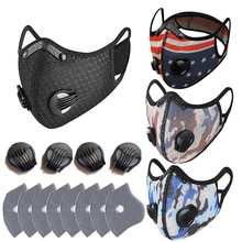 Cycling-Face-Mask Bike ACTIVATED-CARBON-FILTER PM2.5 Reusable Anti-Pollution with Exhaust-Valve