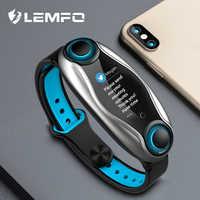 LEMFO LT04 ze stopu inteligentny zegarek mężczyźni kobiety słuchawki z bluetooth tętna monitor ciśnienia krwi BT 5.0 wodoodporna dla android ios