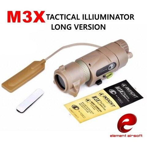 elemento airsoft arma l 3 m3x arma tactical caca luz do iluminador ir lampada softair