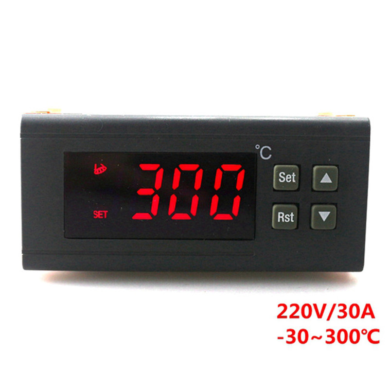 NEW-220V/30A Digital Temperature Controller Rc-114M Thermostat Relay Output -30~300 Degree With Ntc Sensor