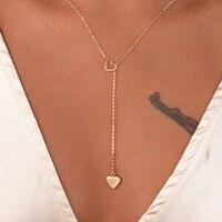 Nouvelle mode bijoux à la mode cuivre coeur chaîne lien collier cadeau pour les femmes fille