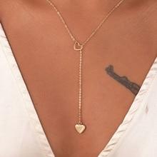 Новая мода трендовые ювелирные изделия медное сердце цепь звено ожерелье подарок для женщин Девушка