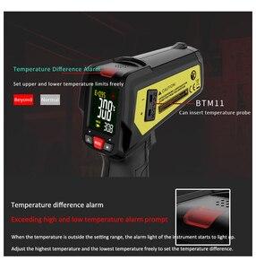 Image 3 - אינפרא אדום מדחום MAXRIENY BTM11 ללא מגע IR הדיגיטלי Pyrometer טמפרטורת מטר נקודת אקדח 50 ~ 580 תואר + מעורר + צבע