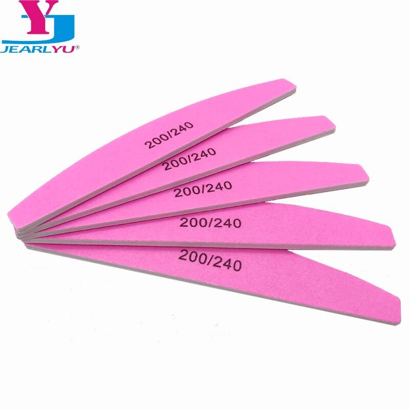 5 Pcs/lot Nail Art Sanding Pink Nail File Sandpaper Grit 200/240 Buffer Polishing For Manicure Care Tools Beauty Salon Tools Set