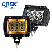 CREK 4 30W Offroad LED Work Light Amber DRL Motorcycle Driving Car For 4x4 4WD SUV ATV Truck