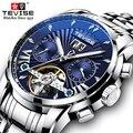 TEVISE автоматические механические часы для мужчин, деловые наручные часы из нержавеющей стали, мужские часы-Скелетон 2019, мужские часы T9005F