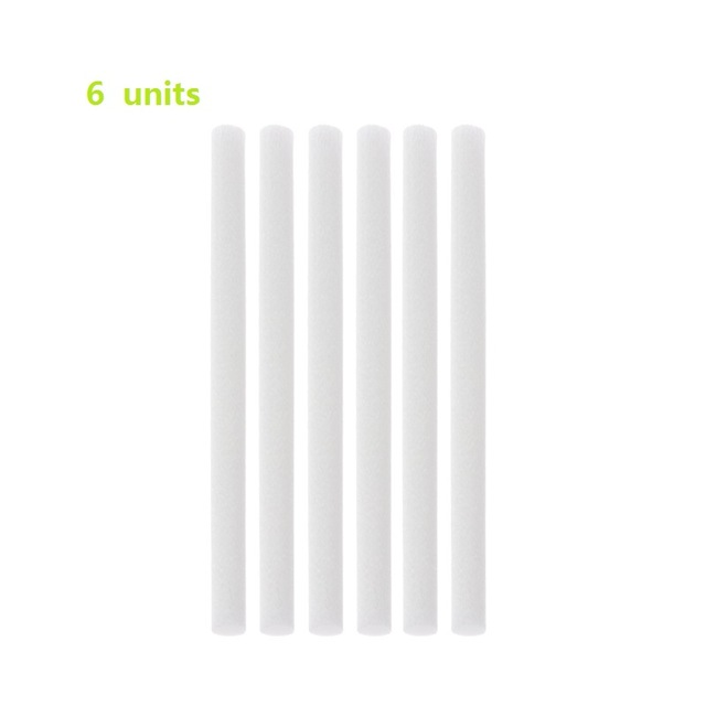 DEKAXI 8mm*130mm Cotton Swab For Air Humidifier For Car Diffuser Aroma Diffuser Humidifiers Filters Can Be Cut Replace Parts