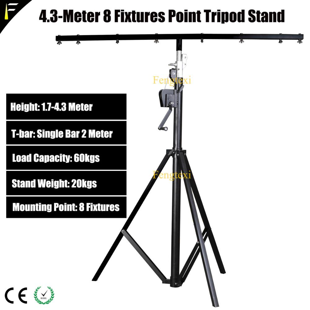 Single Crossbar Stage Moving Head Light Stand 4.3m Height 8 Or16 Fixtures Mounting Point Disco Party LED Par Tripod Stand