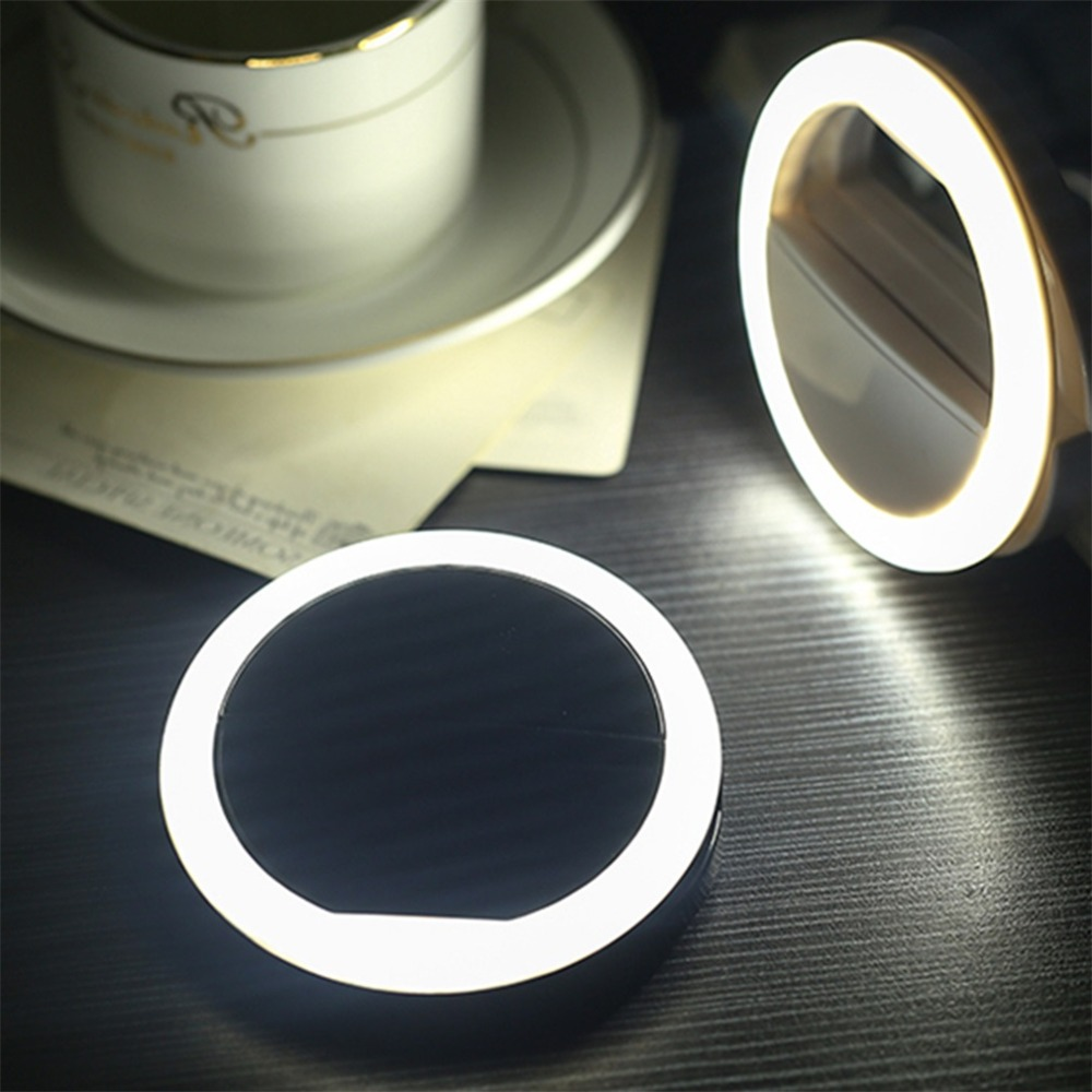 Hf008dbee86cc4c9696697f3b3b0050f8u - Universal Selfie LED Flash Ring Light Portable Lamp Mobile Phone Lens For iPhone Xiaomi mi9t Samsung S10 S9 Luminous Ring Clip