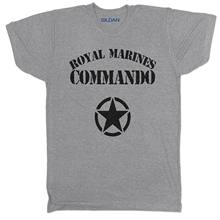 Royal Marines Commando Army British Military Soldier Armed Forces T Shirt(China)