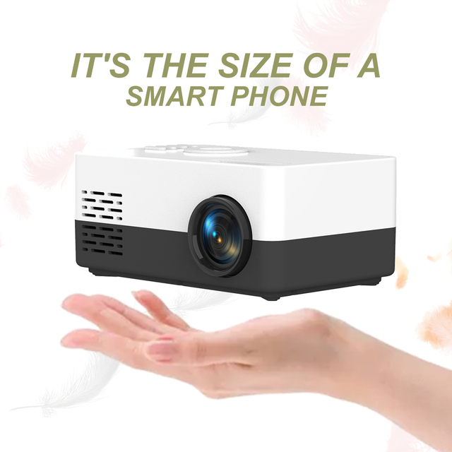 Salange J15 Pro Led Mini Projector for Home Theater 480x360 Pixels 1080P Supported HDMI-Compatible USB Audio Video Mini Beamer 2