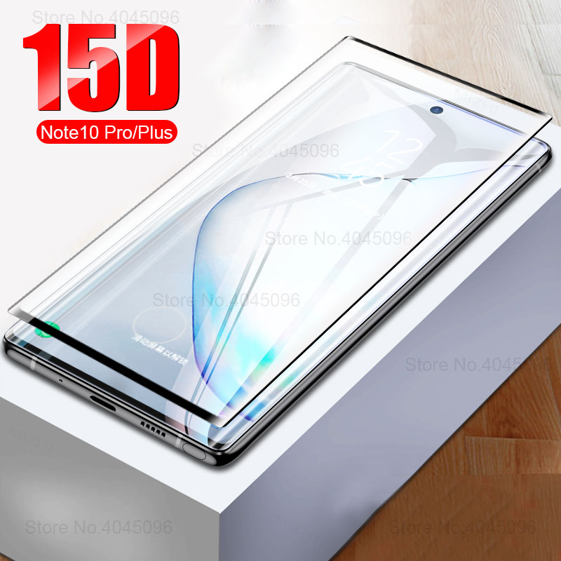 Full Coverage Tempered Glass For Samsung Galaxy Note 10 Pro Case Protective Glas On The Galax Note10 Plus Not 10Pro 10Plus Cover