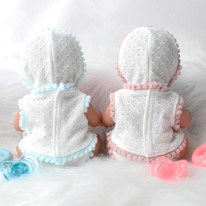 10 นิ้วจำลองBebe Rebornซิลิโคน 26 ซม.ทารกแรกเกิดกันน้ำที่สมจริงBadyตุ๊กตาหัวนมHand Rattleการศึกษาสำหรับของเล่น
