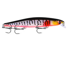 YUZI 1PCS New Minnow Fishing Lure 110mm 13g Hard Artificial Bait Slow Sink 3D Eyes Wobblers Fish Pesca