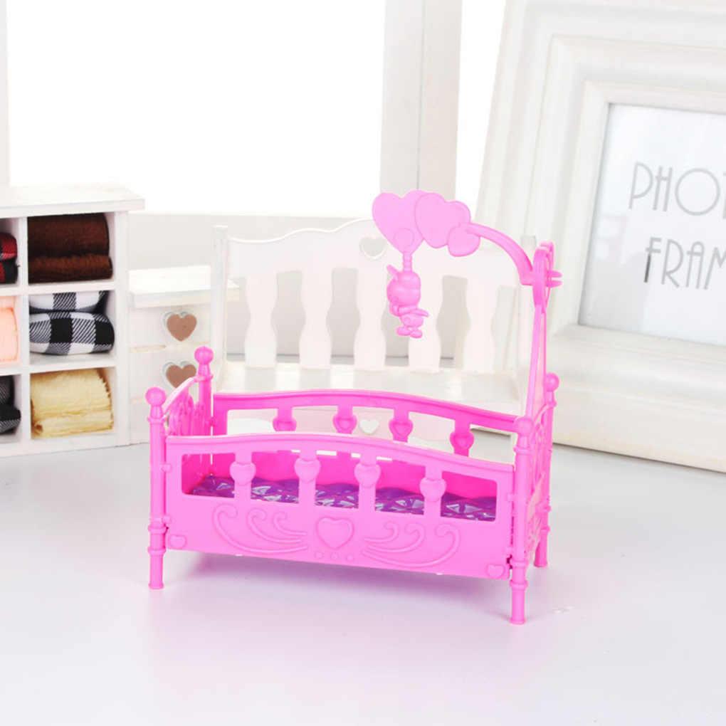 Berceau à bascule lit maison de poupée jouet meubles pour Kelly Barbie poupée accessoires filles jouet cadeau bébé douche cadeau filles jouet