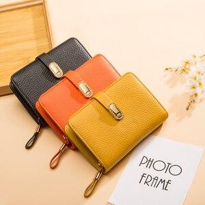 Image 5 - Hakiki deri tasarımcı cüzdan kadın cüzdan moda para çantası cep telefonu cep bayanlar lüks uzun çanta 6915