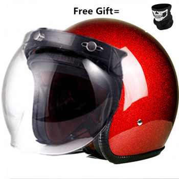 red shine top quality open face motorcycle helmet visor silver color available vintage helmet windshield shield open face helmet visor motorcycle helmet bubble visor casco moto visor lens capacete bubble shield motorcycle helmets