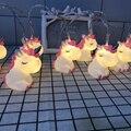 Новый светодиодный мультяшный светильник Единорог  силиконовая гирлянда в виде животных  сказочный светильник на аккумуляторах для рождес...