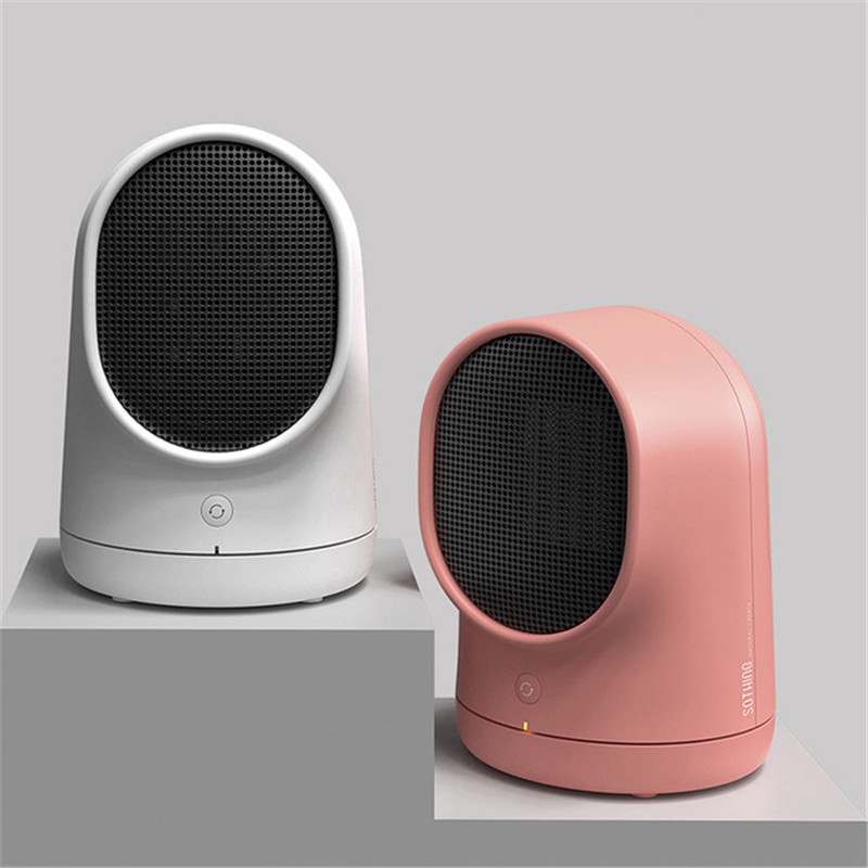 Household Electric Hot Air Fan 220V Desktop Head Shaking Electric Heater 500W Power Portable Warmer