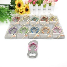【KATEROSE】Custom Printing Wedding Bottle Opener in Gift Box Personalized Colorful Thong Sandal Beer Openers  X 160pcs