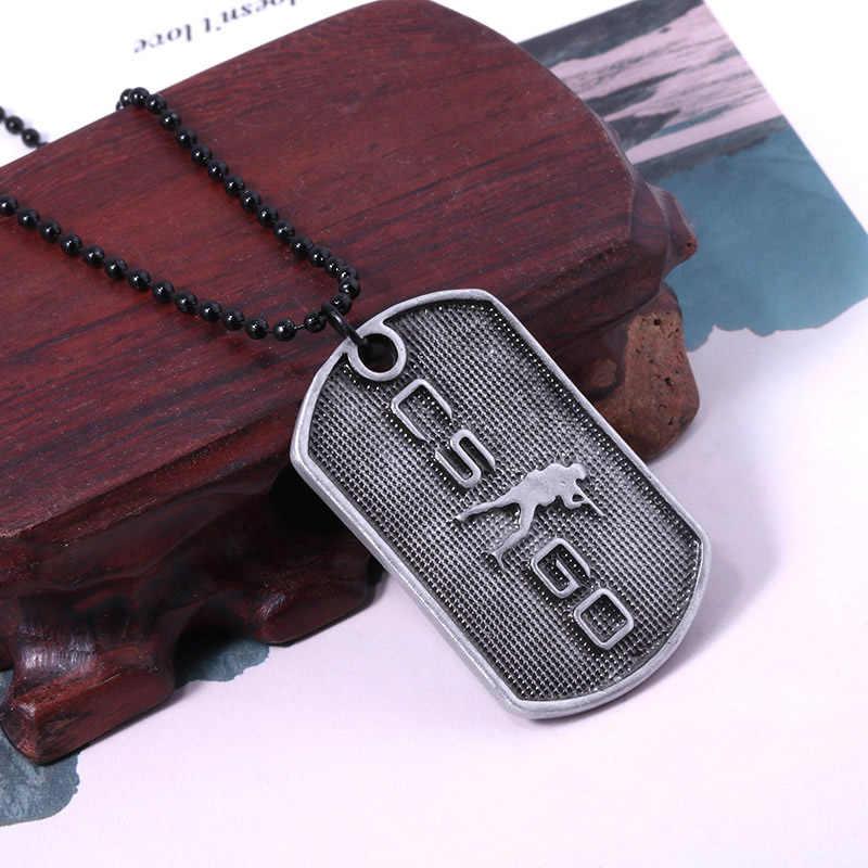 Горячая Распродажа, CS GO Gun knife, ожерелье с крыльями, Мужская подвеска, античное Серебряное украшение для мужчин, Заводская распродажа