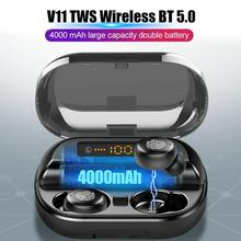 Earphone Tws Bluetooth True Wireless Led-Display Sports Headset Charing Stereo with Case