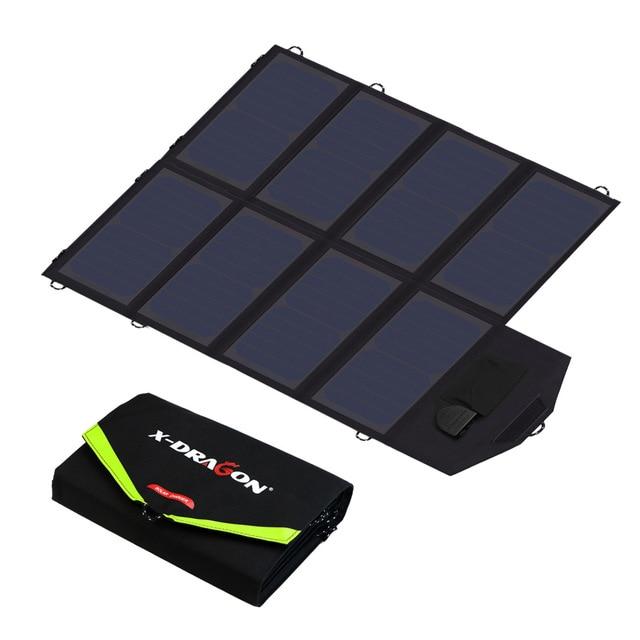 40W Solar PANEL Charger แบบพกพาแบตเตอรี่ชาร์จ 5V 12V 18V สำหรับโทรศัพท์มือถือแท็บเล็ตแล็ปท็อป 12V ฯลฯ