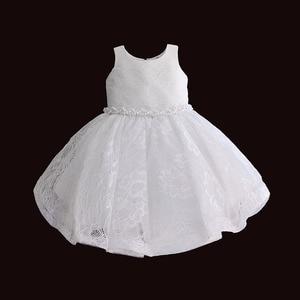 Image 5 - 아기 소녀 옷 1 생일 소녀 투투 드레스 진주 벨트 세례 저녁 파티 드레스 공주님 아이 드레스 6 12 18 36 m