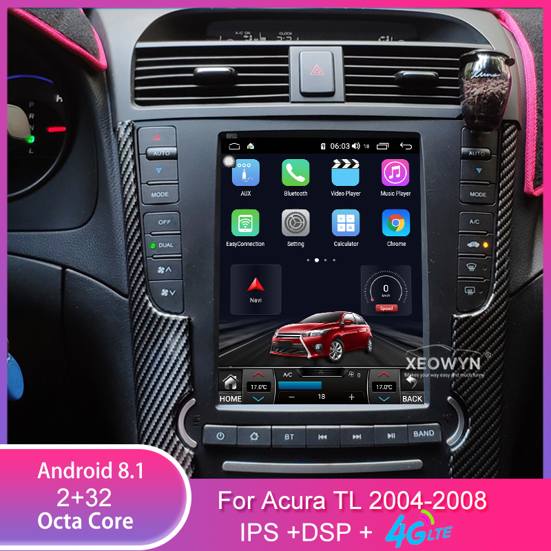 Android 8.1Octa Core For Acura TL 2004-2008 Car Radio GPS Navigation Player Radio Multimedia