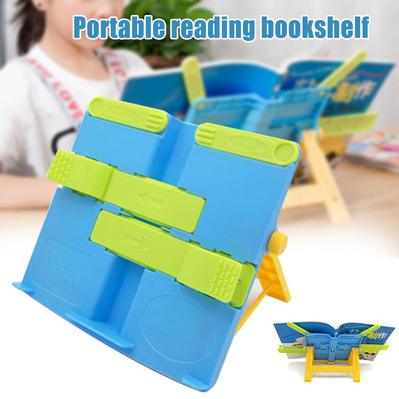 Adjustable Anti-myopia Bookends Portable Reading Rack Shelf For Children Stationery Student  FAS6