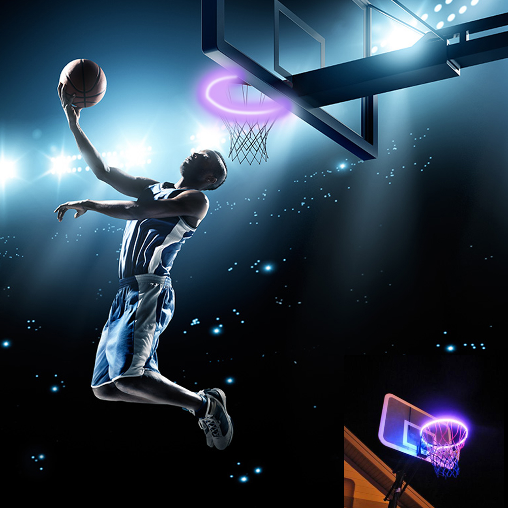 Solar Basketball Sensor Light-LED Flashing Light Very Suitable For Outdoor Night Play And Children Training Game