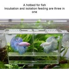 Aquarium Fishes Breeding Boxes Double Guppies Hatching Incubator Isolation Box