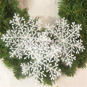 30pcs/lot 11cm Christmas Ornament White Plastic Christmas Snowflake Tree Window Christmas Decorations For Home image