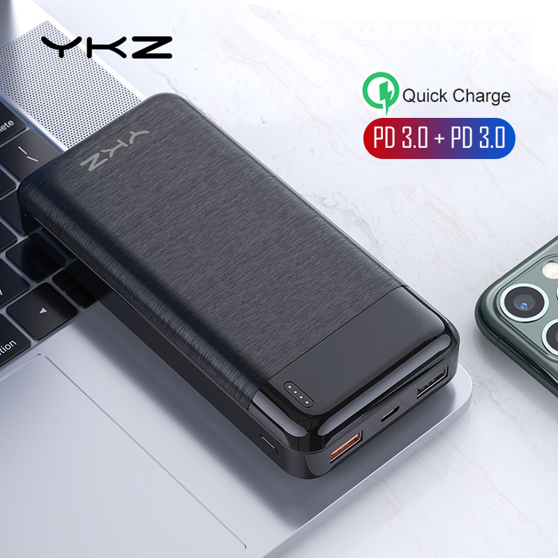 YKZ <font><b>20000</b></font> mAh <font><b>Power</b></font> <font><b>Bank</b></font> PD 3.0 Fast Charge Portable External Battery Charger LED Display PowerBank for iPhone Samsung <font><b>Xiaomi</b></font> 9 image