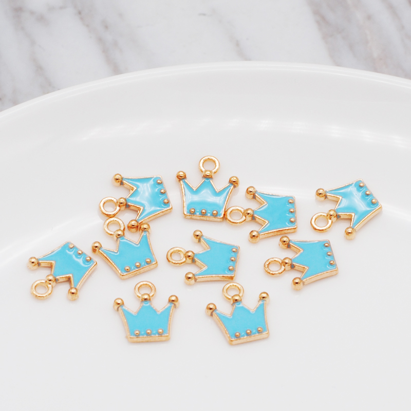 30pcs/pack 11*12mm Gold Color Tone Charm Pendants Alloy Metal Enamel Charms For DIY Jewelry Making 3