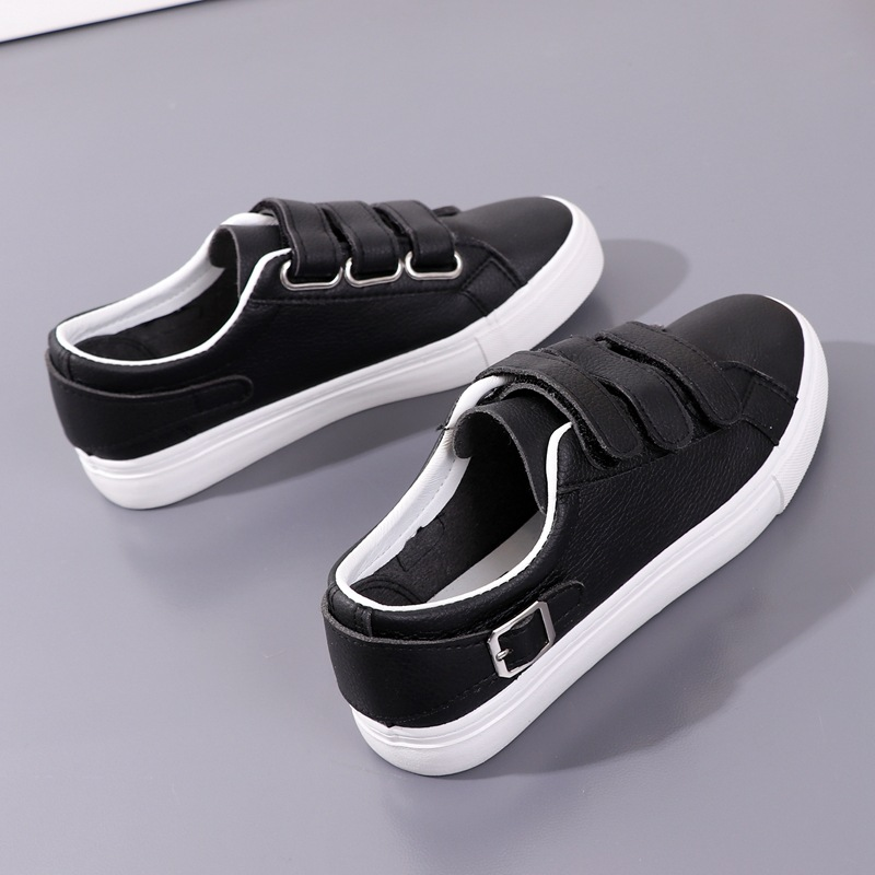 Yuan Bu 2018 Spring New Style Korean-style Versatile Sports Casual Board Shoes Velcro Canvas Shoes Student Shoes White