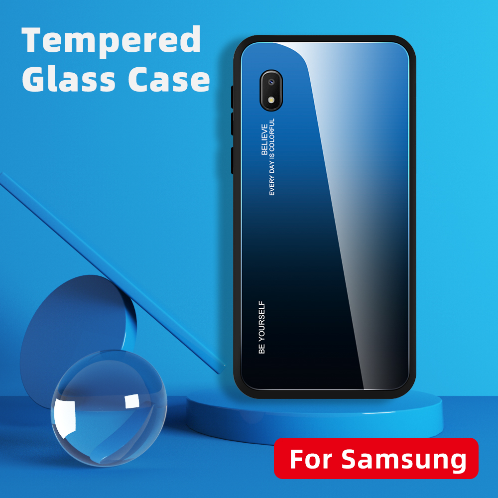 For <font><b>Samsung</b></font> Galaxy A10e A 10 e <font><b>A10</b></font> e A 10e SM-A102U <font><b>Case</b></font> Gradient <font><b>Glass</b></font> <font><b>Case</b></font> Samsun <font><b>A10</b></font> e S A10e A10S 10A Colorful <font><b>Case</b></font> Fundas image