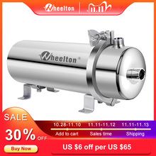 Wheelton 304 Stainless Steel Water Filter PVDF Ultrafiltration Purifier,1000L,Commercial Home Kitchen Drink Straight UF Filters