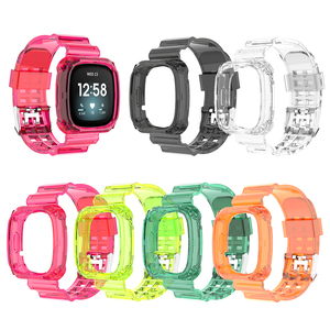 Image 3 - Clear TPU Band Case Cover Comfortable Element Elegant Watch for Fitbit Versa 3 Sense Bracelet Strap Replacement