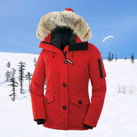 Winter Womnen's Thicken Warm Goose Down Coat Windproof Snowproof Fur Collar Jacket Suitable for Russia Canada Near The Arctic